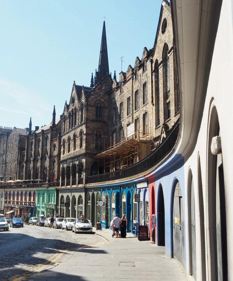 Paseando... por Princes Street, Edimburgo Escocia Mercadillos Europeos